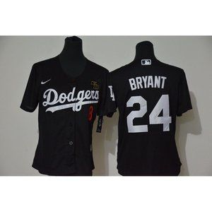 Youth LA Dodgers Kobe Bryant Black Jersey